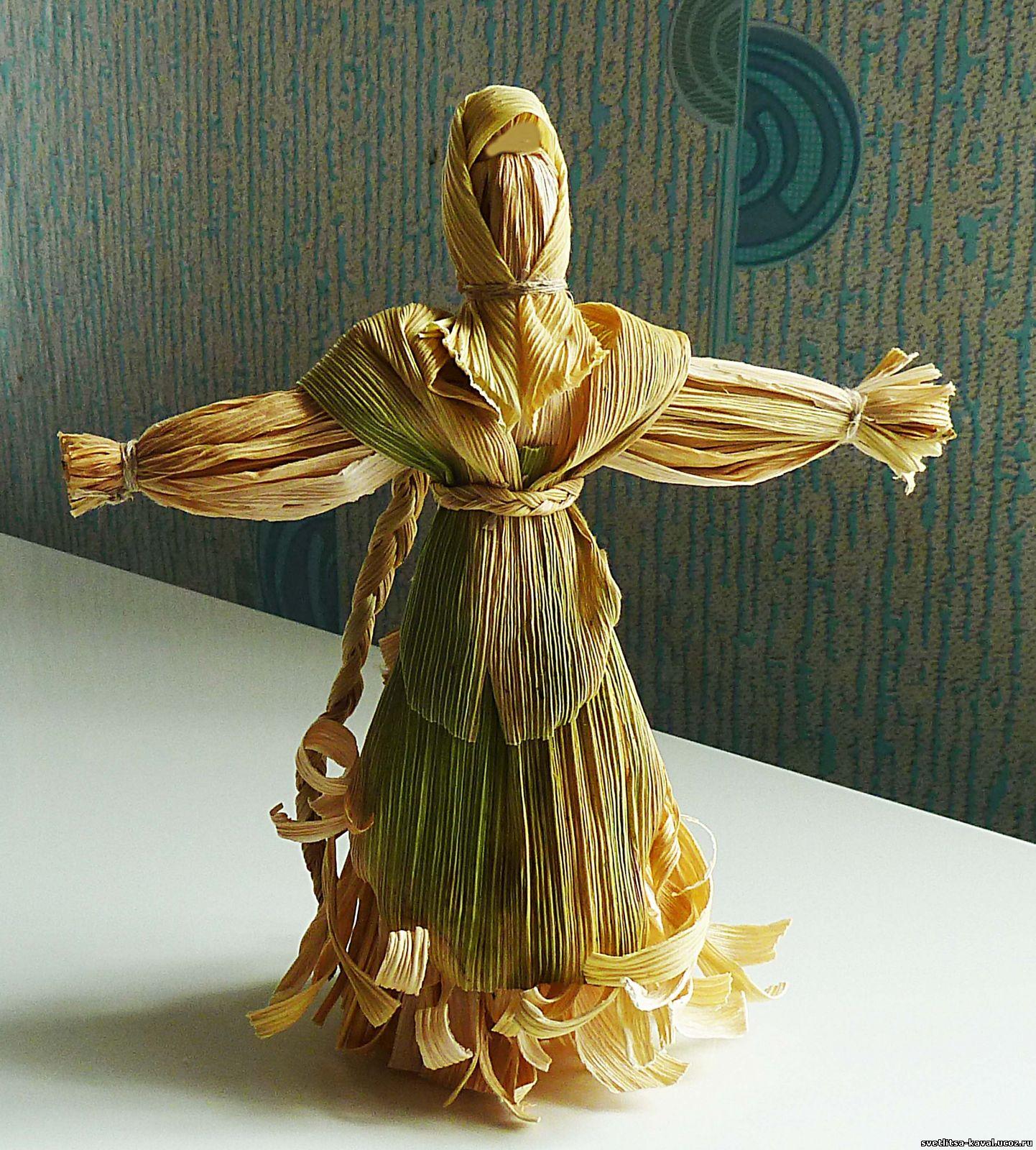 Кукла из кукурузных листьев. Мастер-класс с пошаговыми 37
